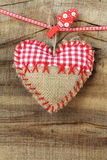 Shabby heart ornament Stock Photos