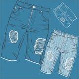 Shabby jeans stock illustration