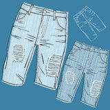 Shabby jeans Stock Image