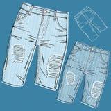 Shabby jeans royalty free illustration