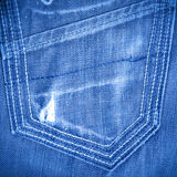 Shabby jeans pocket Stock Photography