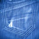 Shabby jeans pocket Stock Photography