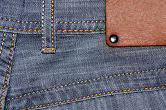 Shabby jeans pocket Royalty Free Stock Photo
