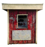 Shabby Kiosk Ticket Booth Stock Image