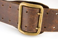 Shabby leather belt Stock Images