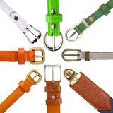 Shabby leather belts Royalty Free Stock Photo