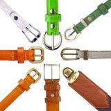 Shabby leather belts Royalty Free Stock Photo