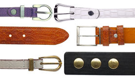 Shabby leather belts Stock Image