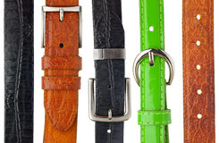 Shabby leather belts Royalty Free Stock Image