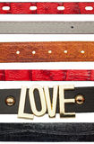 Shabby leather belts Royalty Free Stock Images