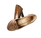 Shabby Leather shoes Royalty Free Stock Image