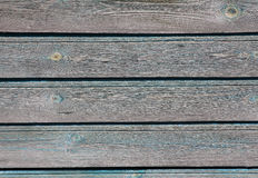 Shabby light blue wooden house wall with peeling paint, texture Stock Image