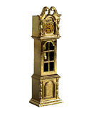 Shabby miniature grandfather clock Royalty Free Stock Images