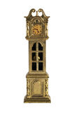 Shabby miniature grandfather clock Royalty Free Stock Photos