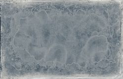 Shabby old blue grunge design frame texture Stock Photo