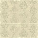 Shabby old seamless Damask Royalty Free Stock Photo