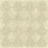 Shabby old seamless Damask wallpaper Stock Photo