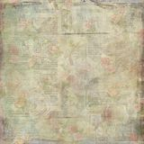 Shabby old vintage written floral paper texture. Template for decoration and design royalty free illustration