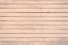 Shabby, painted, old wooden wall of beige, cream color. stock photo