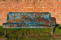 Shabby Park Bench Royalty Free Stock Photos