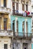 Shabby residential houses in Havana, Cuba Stock Images