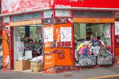 Shabby Shop in Montmarte Royalty Free Stock Photo