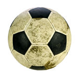 Shabby soccer ball  on white background with clipping pa Royalty Free Stock Photography