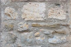 Surface of ancient wall of natural stone royalty free stock images