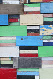 Shabby varicolored Wood Background Stock Photography