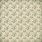Shabby vintage antique floral wallpaper Stock Photo