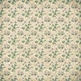 Shabby vintage antique floral wallpaper. Antique vintage floral paper wallpaper Stock Photo