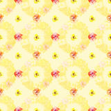 Shabby vintage floral background repeat Royalty Free Stock Images