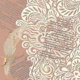 Shabby vintage wallpaper background Royalty Free Stock Image