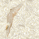 Shabby vintage wallpaper background Stock Photography