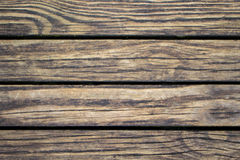 Shabby wood planks closeup. Rough lumber surface. Warm brown wooden background for vintage card. Royalty Free Stock Photography