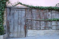 Shabby Wooden Door Stock Photo