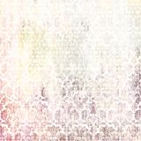 Shabby background with baroque patterns royalty free illustration