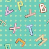 Shabey alphabet background Stock Images