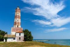 Shablakaap en de oudste vuurtoren in Bulgarije Stock Afbeeldingen