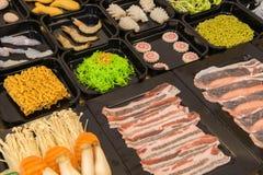 shabu中国食物样式  库存图片