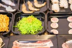 shabu中国食物样式  免版税库存图片