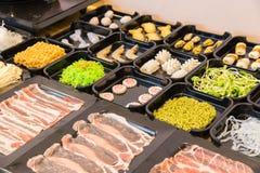 shabu中国食物样式  免版税库存照片