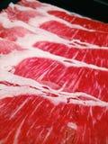Shabu牛肉 免版税图库摄影