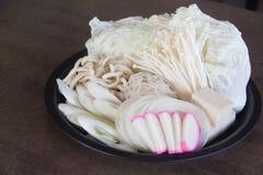 Shabu που τίθεται για τα ιαπωνικά τρόφιμα. Στοκ φωτογραφίες με δικαίωμα ελεύθερης χρήσης