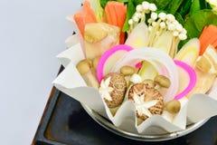 Shabu, Close up mixed vegetables Stock Photo