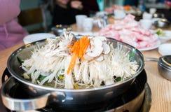 Shabu coréen photographie stock libre de droits