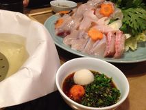 鱼Shabu-shabu 免版税库存照片