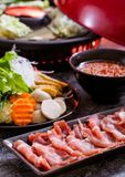 Shabu shabu hot pot. Asian cuisine stock photography