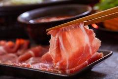 Shabu shabu hot pot. Asian cuisine royalty free stock photo