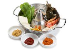Shabu-shabu popular seafood dish Royalty Free Stock Image